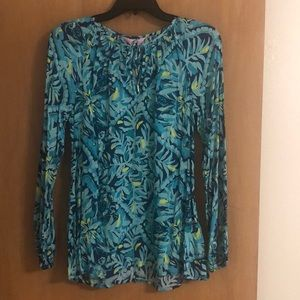 NWT Lilly Pulitzer Willa Top Indigo Midnight Cove